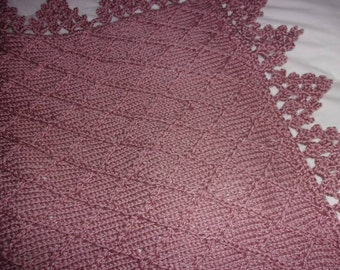 Hand Knit Baby Blanket in Popcorn stitch pattern by DarellaBaby