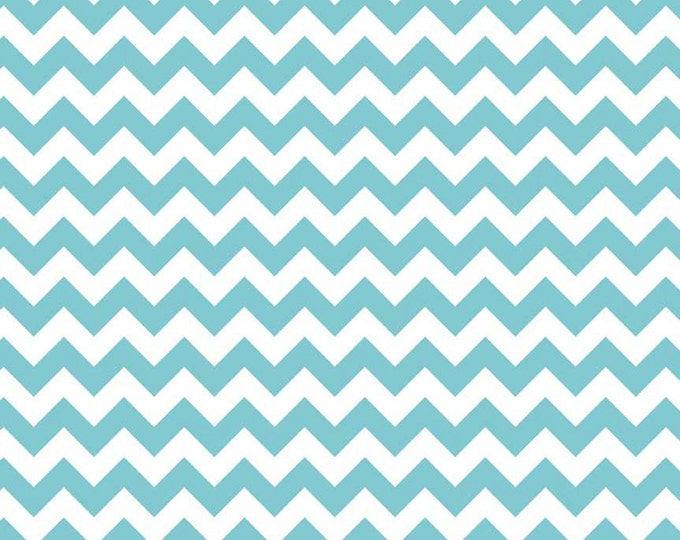 Chevron Fabric in Aqua from Riley Blake  C340-20