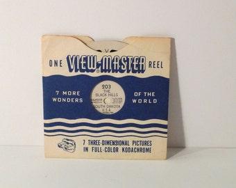 The Black Hills South Dakota Viewmaster Reel 50s Sawyer 203 Stereo Film Card Souvenir 1 Reel View Master Vintage 1950s Travel Americana