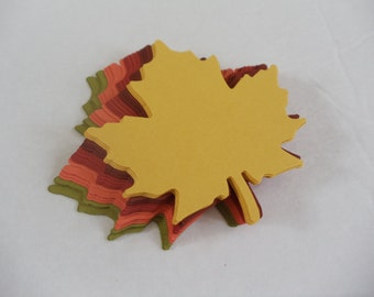 25 Large Maple Leaf Die Cuts, Fall Leaves, Leaf Place Cards, Thanksgiving Decoration