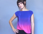 Ombre Silk Top / Sale ready to ship sample.