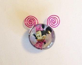 Wire Work Minnie Glass Magnet