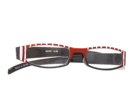stripe reading glasses 350 strength glasses by