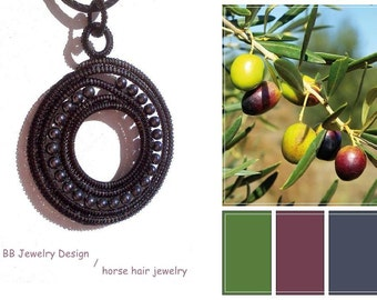 From Europe's heart black HORSE HAIR and gray natural stone