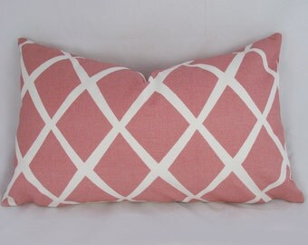 Decorative Pillow Cushion Cover - Accent pillow - Throw Pillow - Diamond Coral