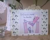 Handmade Printed Card - Chocolates