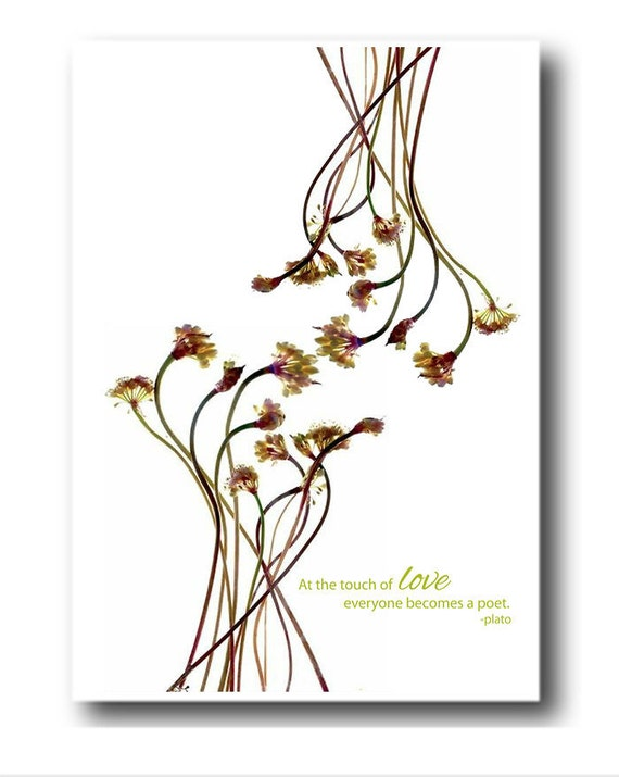 Floral Note Card Mothers Day Handmade Card Free Shipping Blank Inside by Julia McLemore