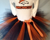 FREE SHIPPING NFL Denver Broncos Tutu Cheer Dress Outfit for Baby Girls