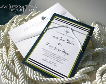 Wedding Invitations, Nautical Invitations, Invitations, Wedding