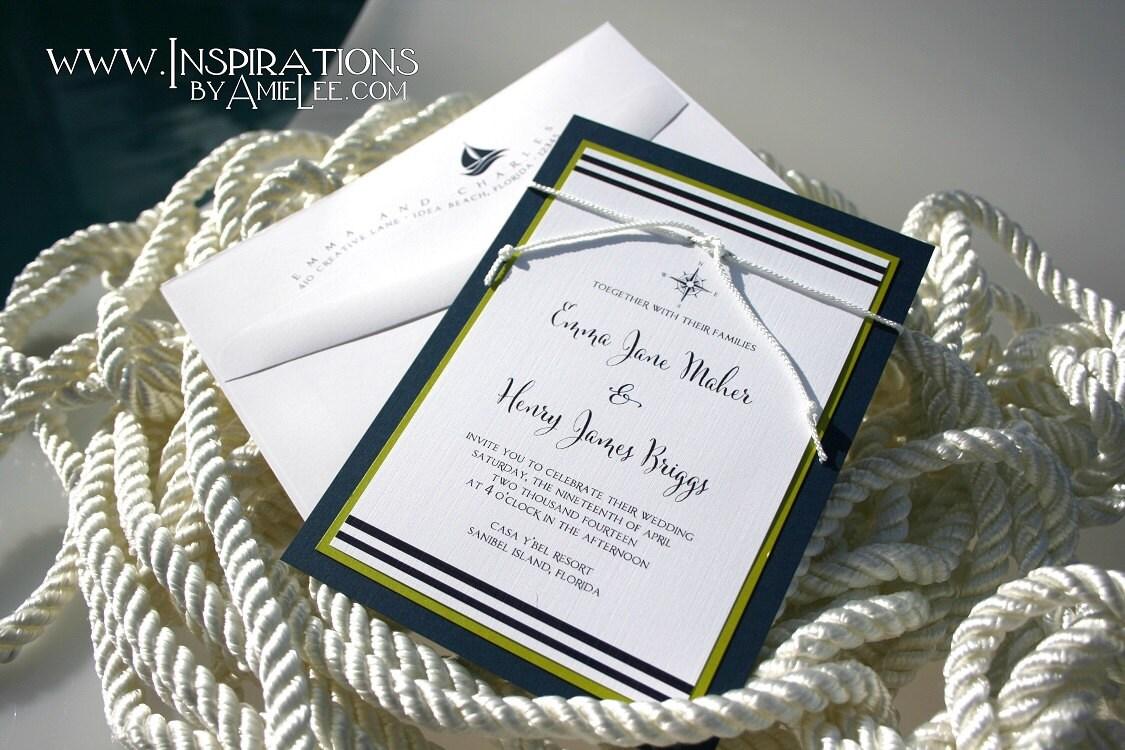 Sailboat Wedding Invitations: Wedding Invitations Nautical Invitations Invitations