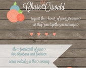 RESERVED for Brittany Sturm - Wedding Invitations