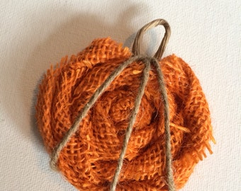 Pumpkin Pin, in Burlap