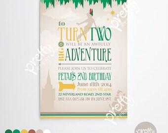 Printable Invitation   A Big Adventure   Personalised Digital PDF