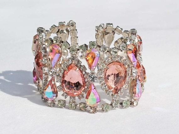 Rosaline and Rose Cuff Bracelet - Vintage Inspired