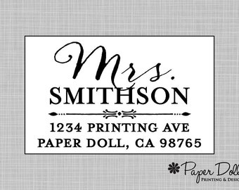 Return Address Labels - Classy Wedding Script Labels - Assorted Colors Available - Personalized Custom - Set of 54 Stickers - Miss*