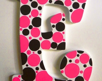 Polka Dot Hand Painted Letter to Match Room Décor