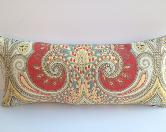 "Kravet ""Latika"" Ikat Decorative-Both-Sides-Pillow Cover 8 X 18 Toss Pillow"