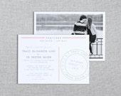 Printable Destination Wedding Invitation Set - Wedding Invitation, Enclosure Card, RSVP - Custom Printable PDF