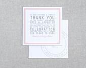 In the Post - Destination Wedding Thank You Card - Custom Printable PDF