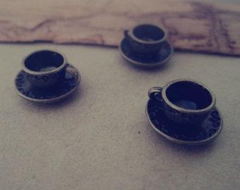 10pcs of Antique bronze cup Pendant charm 8mmx14mm