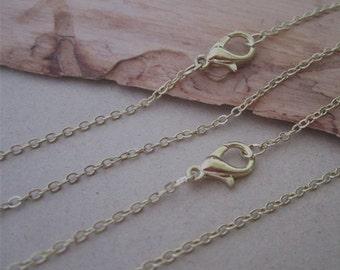 """100pcs  1.5mm 60cm light Gold color (copper) """" 0"""" shape Link  chain"""