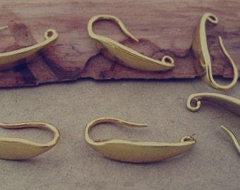 10pcs 8mmx19mm gold color (copper) ear hooks Earrings Accessories P3006