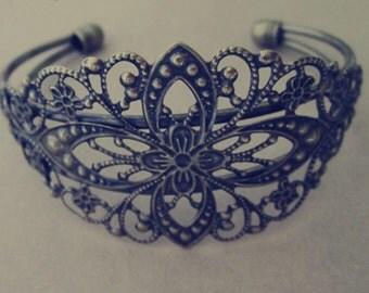 2pcs 30mmx80mm  antique Bronze pedestal bracelet