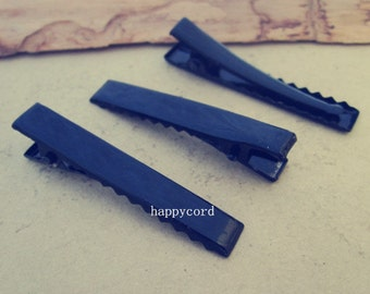 20pcs  black color single prong alligator pinch clips with teeth 55mm