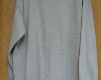 vintage grey long sleeved tee shirt by 'Gap' . . . men's size XL . . .  1970's . . .  made in the USA
