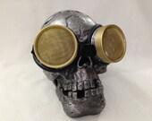 Burner goggles - Metal Steampunk Waspeye lens
