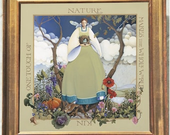mother nature framed lithograph limited edition reproduction