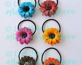 sunflower hairties and ponytail holder