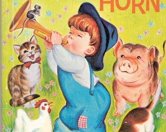 Little Boy Blues Horn Vintage Rand McNally Junior Elf Book  Illustrated by Irma Wilde