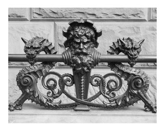 New York Architecture, Dakota Building Railing, Photo Print