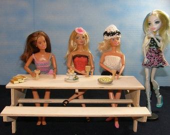Picnic time!  Extra long Unfinished doll  table