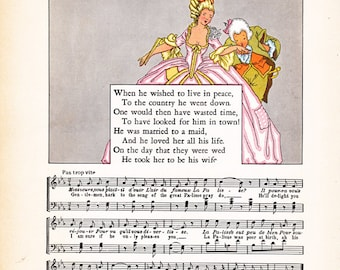 vintage children's book Illustration by Maud and Miska Petersham, Nursery Friends from France
