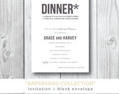 Ampersand Collection | Rehearsal Dinner or Dinner Party Invitation | Printed or Printable by Darby Cards