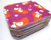 Cloth Wipes, 40 Reusable Cloth Wipes, Girls Mixed Prints Set, Reusable Cloth Wipes, Eco Diapering