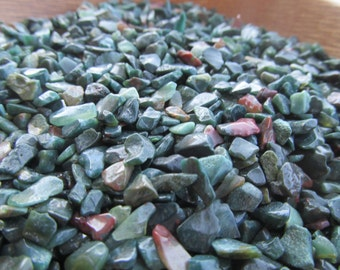 Mini Bloodstone Chip Tumbled Stone Set of 5 Plus T115