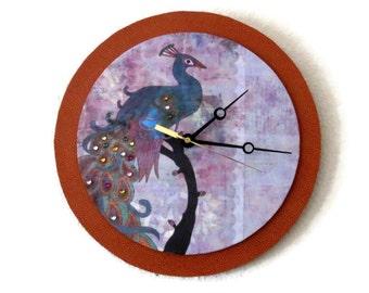 Unique Wall Clock,Home and Living, Home Decor, Decor and Housewares, Peacock Decor, Large Clock, Wall Decor, Unique Clock