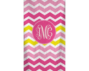 Personalized ChevronBeach Towel 30x60