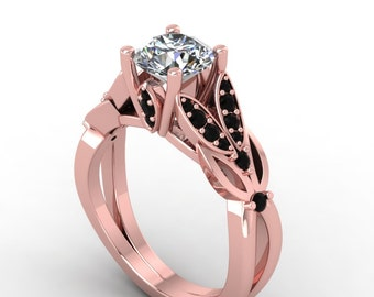Halo Engagement Ring Moissanite Wedding Ring Yellow Gold