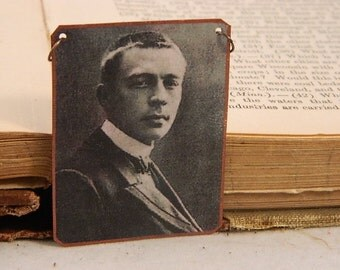 Composer jewelry Rachmaninoff classical music mixed media jewelry