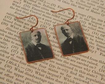 WEB DuBois earrings literature literary jewelry mixed media jewelry