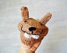 "handpuppet ""Rabbit"" knitting pattern PDF"