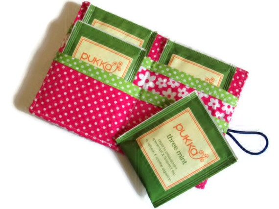 Tea Bag Wallet - Holder for Tea Bags - Card Wallet - Tea Bag Holder - UK Seller