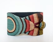 Obi bracelet Pop - japanese fabric 100%cotton - coloured circles