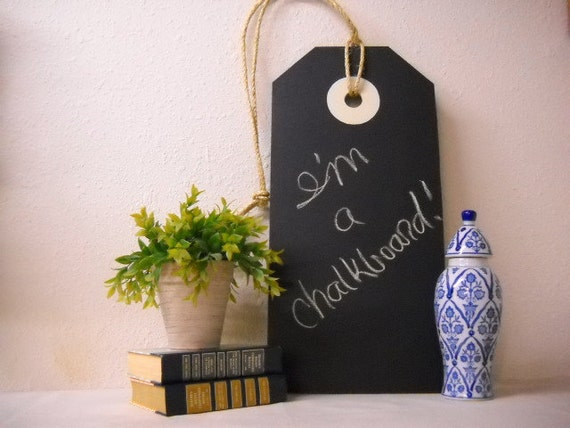 Large Chalkboard Tag Sign Wall Hanging By Littlejewelboutique