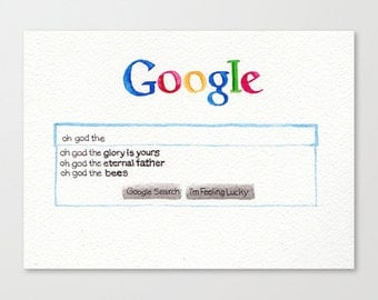 oh god the bees - google auto complete // Chromogenic Photographic Print
