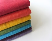 Rainbow colors craft pack Indian raw silk fat quarters